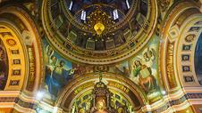 喀山圣母大教堂内顶图片