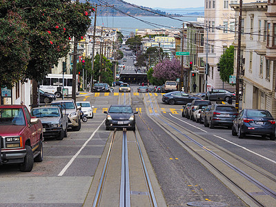 旧金山街道斜坡图片