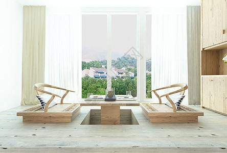 阳台休闲榻榻米图片