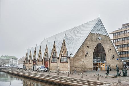 瑞典哥德堡鱼教堂鱼市场图片