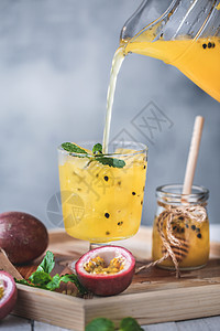 百香果蜂蜜茶饮料图片
