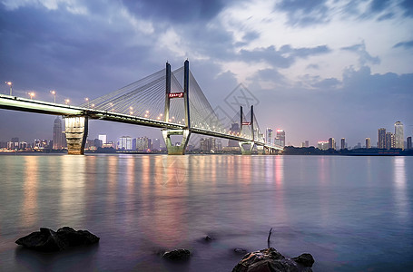 武汉长江二桥夜景风光图片