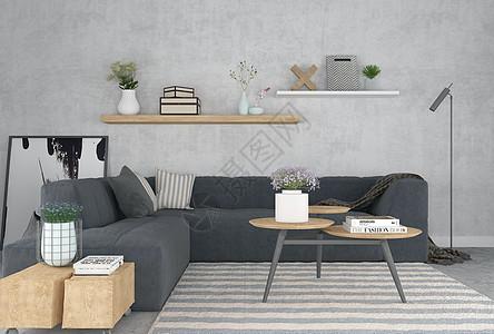 沙发茶几空间场景图片