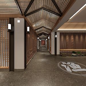 新中式客厅茶馆设计图片