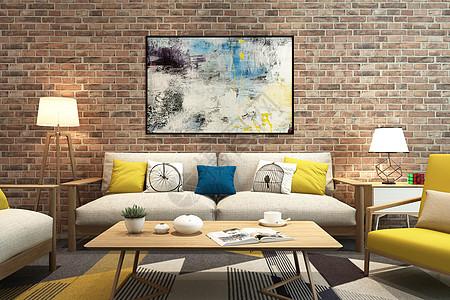 现代客厅空间场景图片