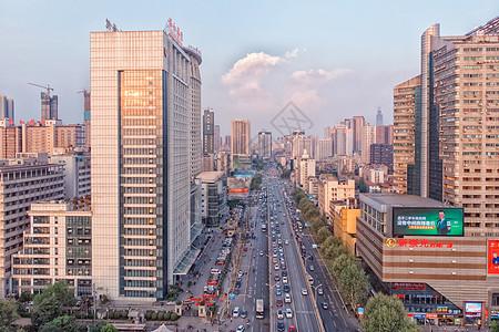 俯瞰武汉解放大道图片