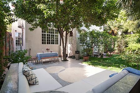 别墅花园图片