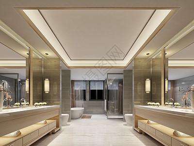 现代卫生间效果图图片