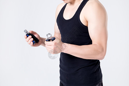 运动健身男性人像握力器图片