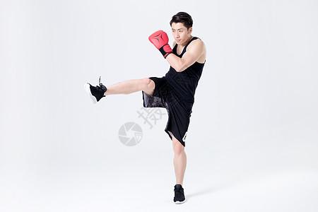 运动健身男性人像拳击图片