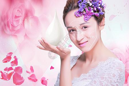 女性美容护肤背景图片