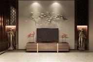 中式电视背景设计图片
