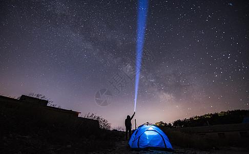 星空下自拍图片