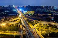武汉青山立交桥夜景图片