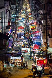 武汉宝成路夜市风景图片