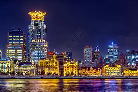 上海外滩浦西夜景图片