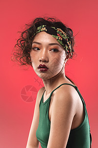 时尚复古女性美妆图片