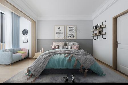 现代卧室空间场景设计图片
