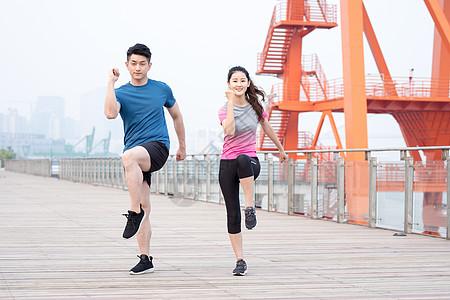 户外运动健身人像图片