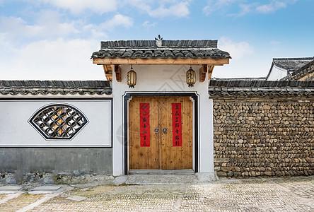 农村中式民居素材图片
