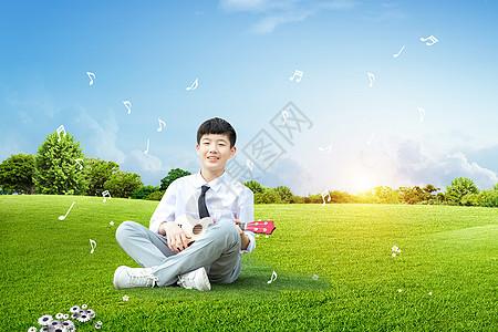 创意儿童乐器学习图片