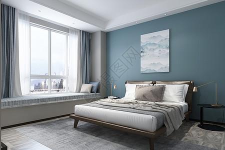 现代卧室空间场景图片