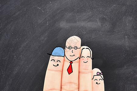 家庭手指图片