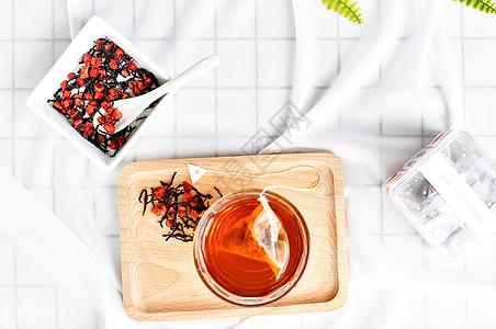 草莓茶图片