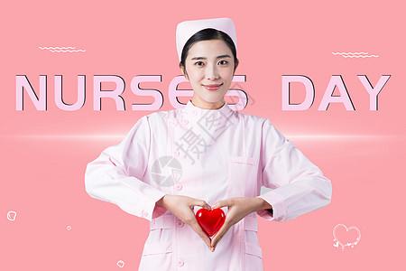 创意护士节背景图片