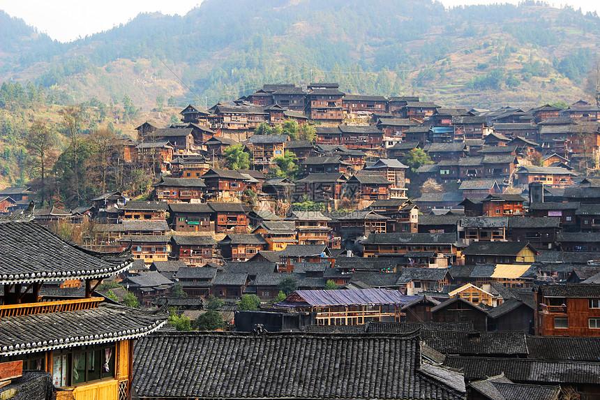 贵州黔东南地区西江千户苗寨图片