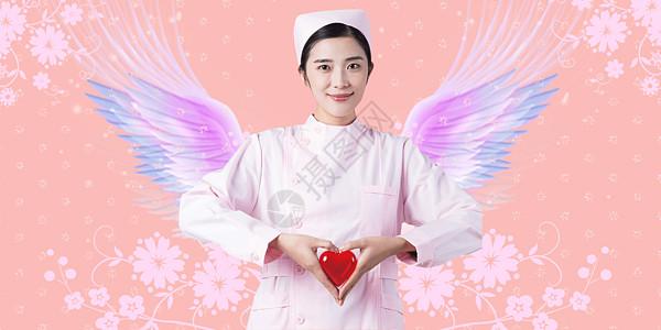 护士节天使的翅膀主题图片
