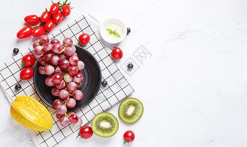 夏季水果背景图片