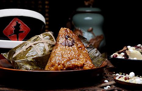 端午节食品糯米粽子图片