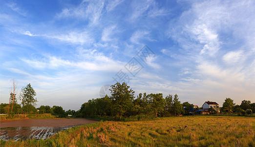 乡村日暮图片