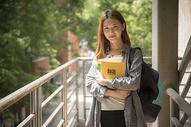 青春洋溢的女大学生图片