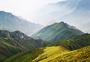 华北屋脊大气背景五台山远山山脉云雾缭绕图片