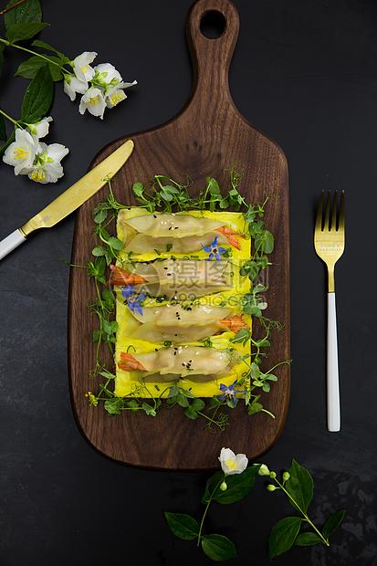香虾鸡蛋饼图片