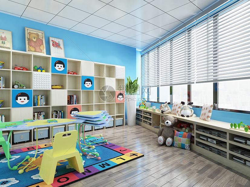 可爱卡通儿童房幼儿园儿童娱乐乐园幼儿园效果图图片