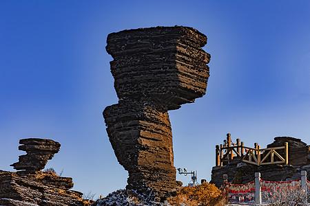 梵净山蘑菇石图片
