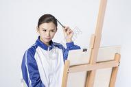 画画的女学生500910713图片