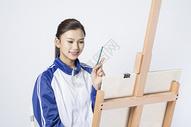 画画的女学生500910714图片