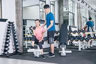 健身房运动人像热身健身图片