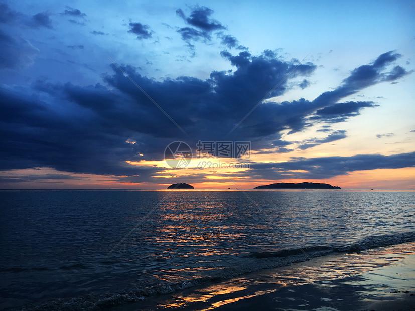 亚庇丹绒亚路最美日落图片
