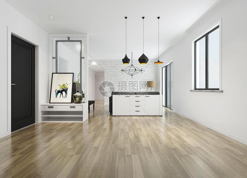 美式白色简约室内家居图片