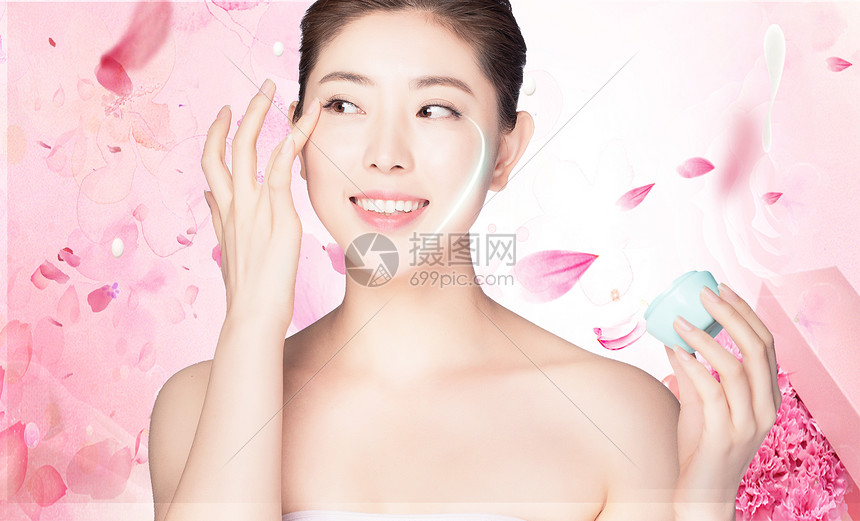 美容护肤背景图片