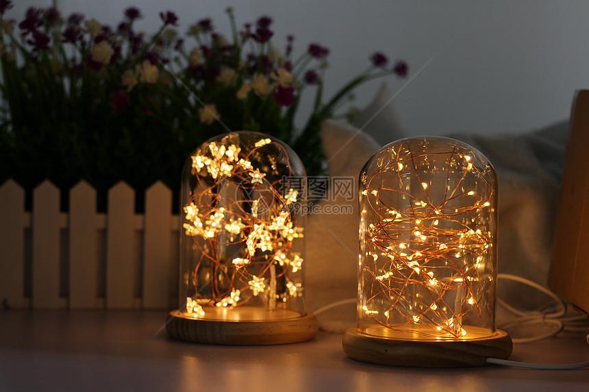 产品拍摄 LED灯串台灯图片