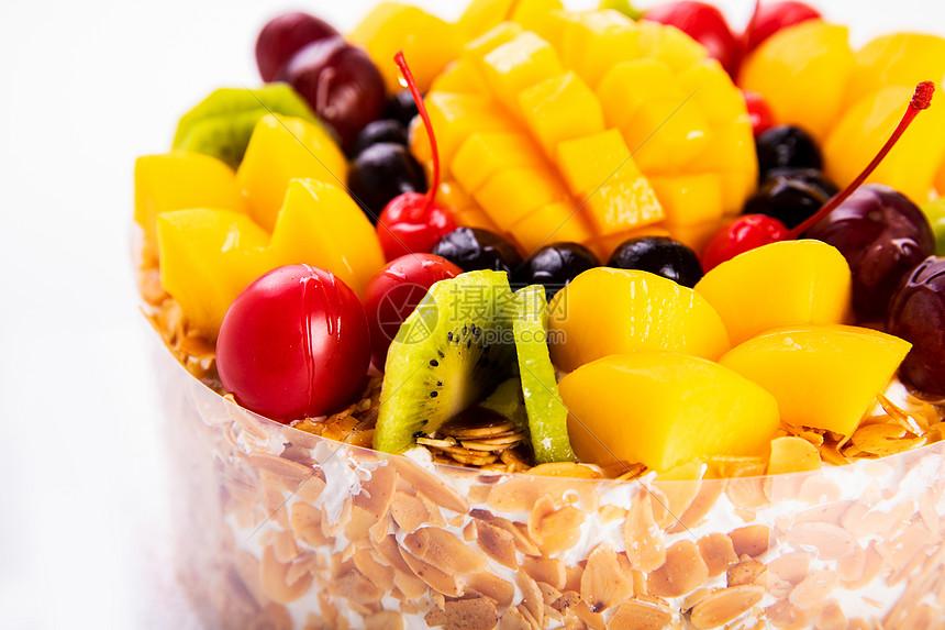 燕麦水果蛋糕图片