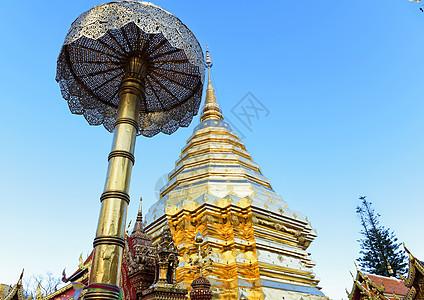 泰国清迈双龙寺佛塔图片