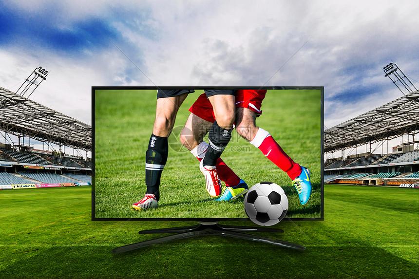 观看足球赛图片