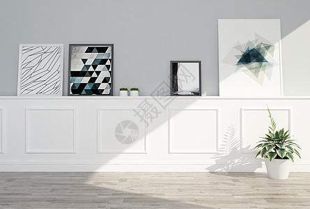 室内装饰柜挂画图片